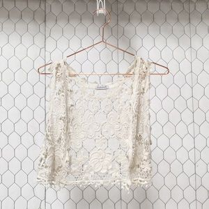 Jackets & Blazers - Stylebook Crop Doily Vest